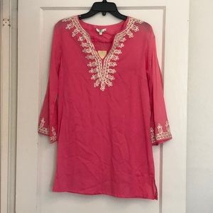 Jade voile pink tunic size M